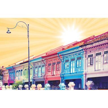 Colourful Shophouses 1 (Orange)