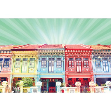 Colourful Shophouses 2 (Mint)
