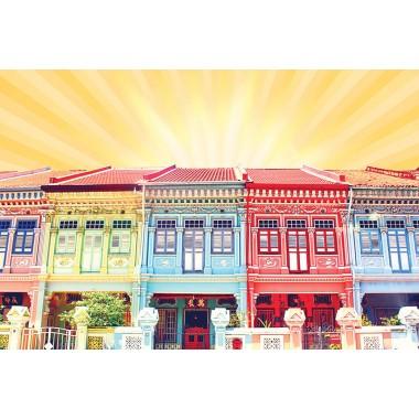 Colourful Shophouses 2 (Orange)