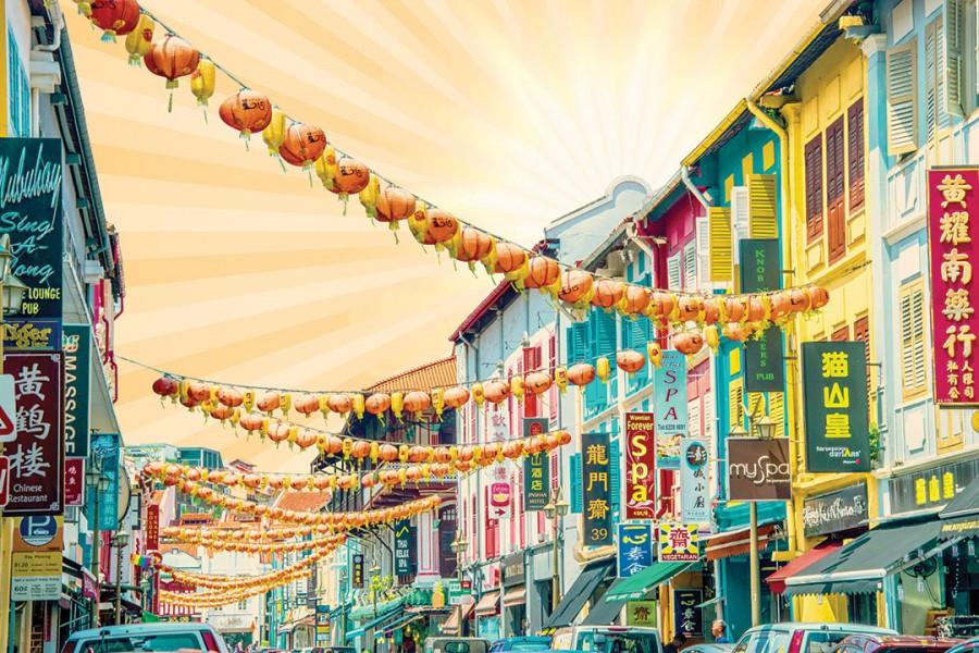 Colourful Shophouses 3 (Orange)