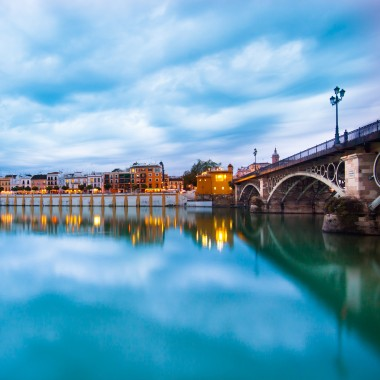 Seville riverside Triana Bridge